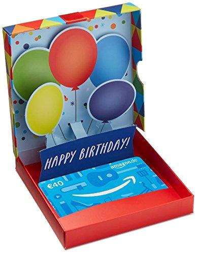 Amazon.de Geschenkgutschein in Geschenkbox - 40 EUR (Geburtstagsüberraschung)