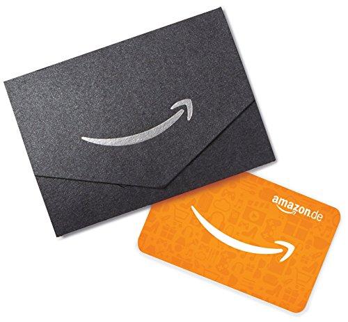 Amazon.de Geschenkgutschein in Geschenkkuvert - 10 EUR (Schwarz)