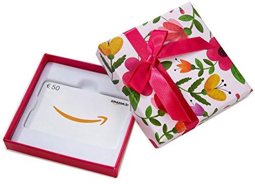 Amazon.de Geschenkgutschein in Geschenkbox - 50 EUR (Blumen)