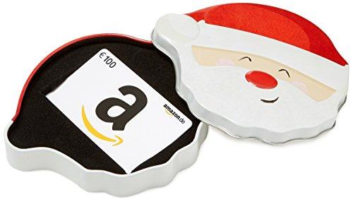Amazon.de Geschenkkarte in Geschenkbox - 100 EUR (Lächelnder Weihnachtsmann)