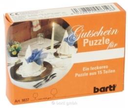Gutscheinpuzzle 'Dinner'